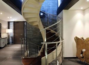 小别墅专用时尚旋转小楼梯装修效果图