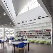 后现代风格简约书店吊顶效果图