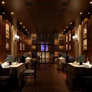 简约风格深色西餐厅装饰