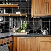 木制材料L型公寓厨房