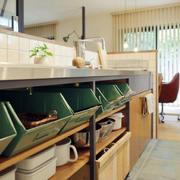 日式公寓厨房碗橱设计