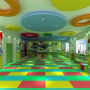 幼儿园拼色地板装饰