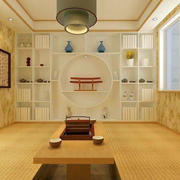 日式底蕴书房吊顶装饰