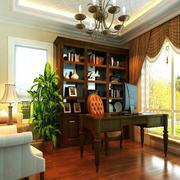 欧式别墅书房电脑桌装饰