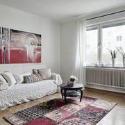 混搭风格公寓客厅沙发背景墙
