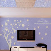 淡紫色灯饰背景墙设计