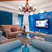 地中海风格客厅电视背景墙设计