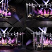 淡紫色灯光舞台装修
