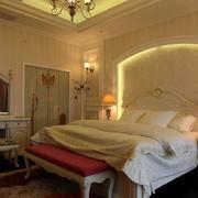 别墅简约卧室壁纸装饰