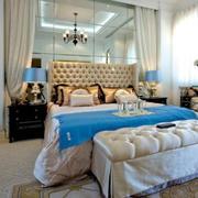 后现代卧室简约软包设计