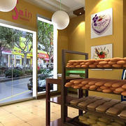面包店铺面货架设计