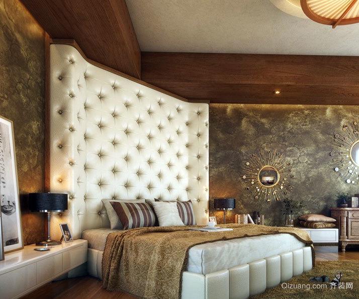 云彩一般的柔软:典雅舒适卧室软包背景墙设计效果图大全欣赏