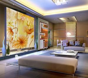 2015大户型精致大方的经典艺术玻璃背景墙装修效果图欣赏大全