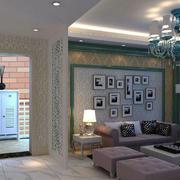 美式客厅照片墙装饰