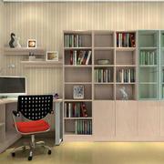 日式书房整体书柜