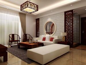 中式客厅吊顶灯饰设计