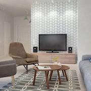 后现代风格公寓客厅电视背景墙