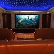 家庭影院欧式皮制沙发装饰