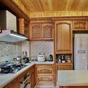 美式原木色厨房装饰