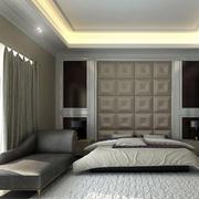 都市卧室软包背景墙设计