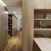 两室一厅木制桌椅设计