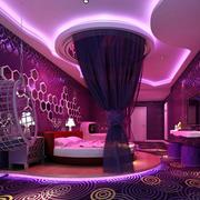 紫色唯美酒店公寓装饰