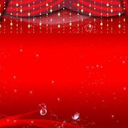 喜庆红色舞台装饰