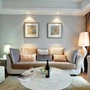 后现代风格客厅沙发背景墙装修