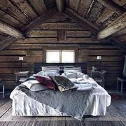 美式原木阁楼设计卧室