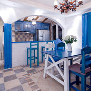 地中海风格客厅桌椅设计