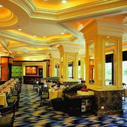 欧式奢华风格西餐厅装饰