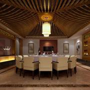 大型东南亚风格酒店包厢装饰