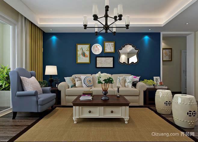 欧式古典风格的客厅装修效果图展示