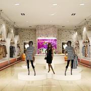 欧式田园风格服装店背景墙设计