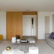 公寓日式简约客厅效果图