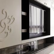 别墅石膏板背景墙花纹装饰