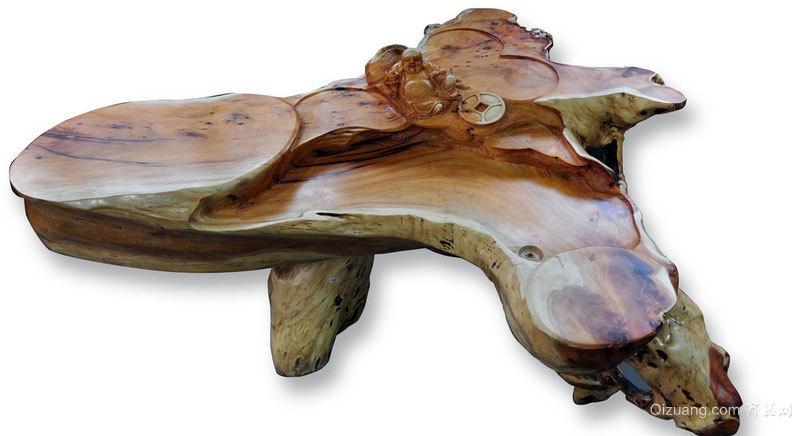 艺术感和自然美结合的根雕装修效果图片