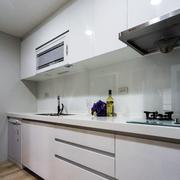 loft公寓一字型厨房装修