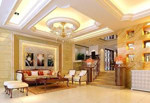 极具艺术性:欧式客厅石膏线装修效果图欣赏图集