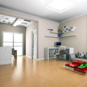 北欧风格客厅木制地板设计