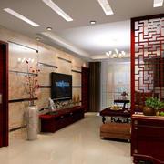 中式风格隔断装修背景墙