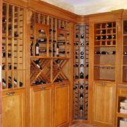 欧式原木酒窖酒架装修