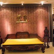 简约风格中式客厅床饰设计