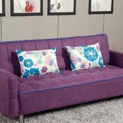紫色气质沙发装饰