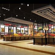 大型水果超市货架装饰