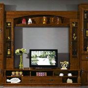 欧式原木电视柜