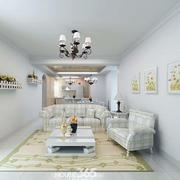 简约风格客厅石膏线装饰