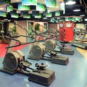 健身房简约地板装饰