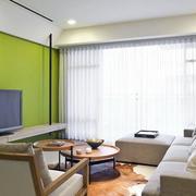 小户型纯色客厅背景墙