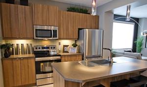 厨房旋转式水龙头装修效果图